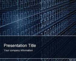 powerpoint templates for it technology binary powerpoint template