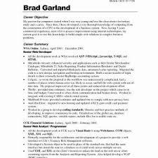 Resume Sample Objectives Entry Level New Entry Level Resume Samples