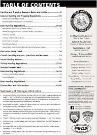 Hunting Season Chart Hunting And Trapping Regulations Summary July June 2016