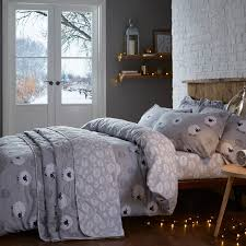 single duvet cover brushed cotton sheep grey tap to expand
