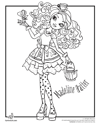 Small Picture Ever After High Coloring Pages Woo Jr Kids Activities