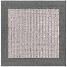 square indoor outdoor rug recife checd field grey white 9 ft x 9 ft square indoor