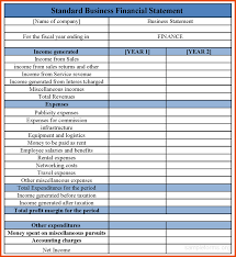 Free Financial Statements Templates Free Financial Statement Template