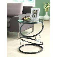 round metal end table matte black metal accent table with tempered glass end tables metal table