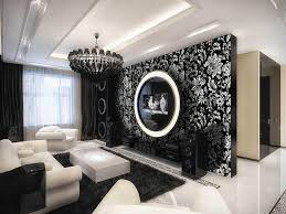 Design With Amazing Living Room Design With Black White Nice Floral