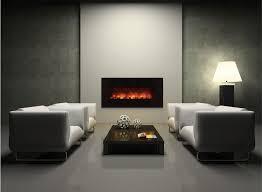 wall fireplace electric beautiful modern flames ambiance al60clx2 60 electric fireplace modern blaze