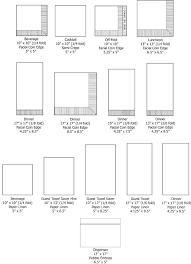Napkin Size Chart Napkins Sizes Linen Napkins Table Runner Placemats