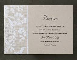 Wedding Ceremony Card What Is A Reception Card Weddings For A Living