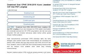 Download gratis soal cpns 2018; Soal Tes Cpns Sipir Pdf Jawabanku Id
