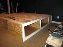king storage bed plans. King Size Platform Bed Diy Fascinating Cool With Storage Plans Best Modern Twin . I