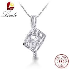 lindo 925 sterling silver freshwater pearl cage pendant diffuser women fashion white pink purple round natural pearl necklace zrda54355