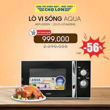 Siêu Thị Điện Máy - Nội Thất Chợ Lớn - ▶️ Lò vi sóng Aqua AEM- G3133V giảm  56% Giá còn: 999.000 (̶̶2̶̶.̶̶2̶̶9̶̶0̶̶.̶̶0̶̶0̶̶0̶) - Có chức năng nướng =>  Chi tiết SP
