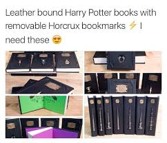 leather bound harry potter books with removable horcru