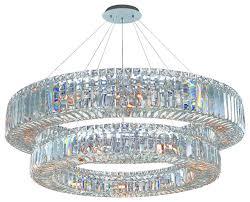 allegri 11774 010 fr001 quantum rondelle 36 d 2 tier round chandelier
