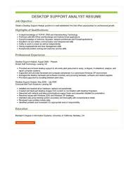 desktop resume desktop support analyst resume sample best format