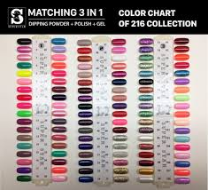 Sns Color Chart Color Chart Super Star Matching 3 In 1