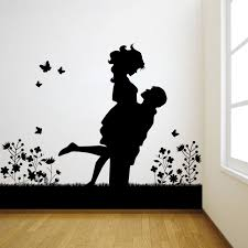 Small Picture Buy Decor Kafe Decal Style Lovely Couple Wall Sticker Online