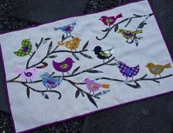 Birds and Branches Applique Wall Quilt | FaveQuilts.com &  Adamdwight.com