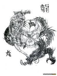 эскизы тату тигр и дракон клуб татуировки фото тату значения эскизы