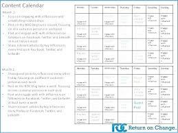 Social Media Plan Template Classy Social Media Marketing Plan Template Editorial Calendar Sample Free