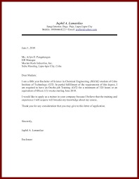 Application Letter For Industrial Cover Example Auditor Juphil A