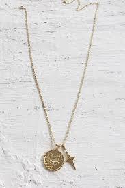minc collections eagle pendant necklace gold
