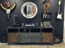 masculine furniture. Masculine Media Stand Man Cave Furniture E