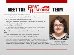 Meet Carla Wiegand, Administrative Assistant at First Response ...