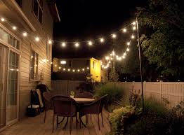 outdoor strand lighting. How To Make Inexpensive Poles Hang String Lights On - Café Style! Via Bright July Outdoor Strand Lighting Pinterest