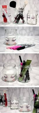 Sharpie Jars Makeup Storage and Organization Ideas