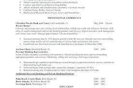 Sample Personal Banker Resume
