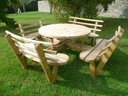 picnic table circular