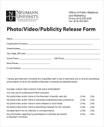 Sample Publicity Release Form 8 Examples In Word Pdf