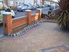 Small Picture Imperial red brick London wall stone pier caps sandstone paving