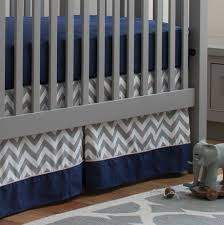 navy and gray elephants 2 piece crib bedding set
