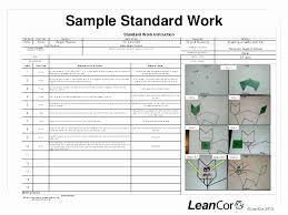 Standard Work Templates Standardized Work Templates Excel Best Of Template Standard