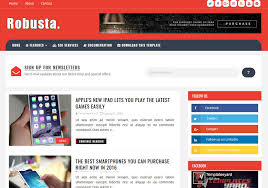Robusta Template Theme New 2018 Free Version Download For Blogger