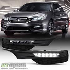 2017 Honda Crv Fog Lights Details About For 2016 2017 Honda Accord Sedan Led Bumper Fog Lights Driving Lamps W Switch