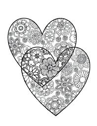 Coloring Hearts Heart Coloring Page Valentine Heart Coloring Page In