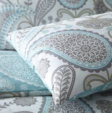 pieridae paisley teal duvet cover pillowcase set bedding digital print quilt case single double king bedding bedroom daybed double by pieridae