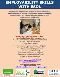 employment skills esol gnp community federation employability skills esol