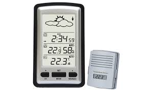 wireless weather station with outdoor temperature