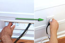 Installing A Wall Mount Flat Screen Tv Hiding Cords Prettyhandygirlhow To  Hide On Mounted Over Brick