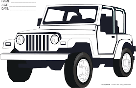 Small Picture Jeep coloring pages to download and print for free