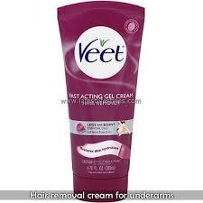 removing under arm hairs via creams