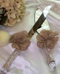 Sale Rustic Wedding Wedding Cake Knife Set Burlap Wedding Lace
