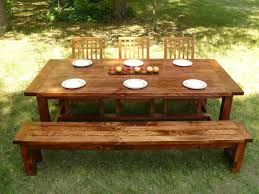 Indoor Picnic Style Dining Table Picnic Table Style Dining Set Dining Table Ideas