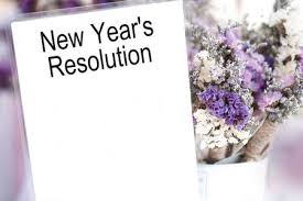 <b>New Year's</b> Resolution Words On White Card And <b>Purple Flower</b> ...