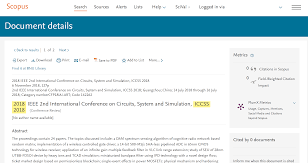 Iccss 2019 Circuits System And Simulation
