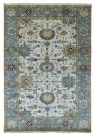 6x9 carpet beige and blue small wool very fine hand knotted oriental area rug new